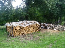 SER stockage bois buche
